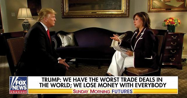 Maria Bartiromo interviews President Trump.