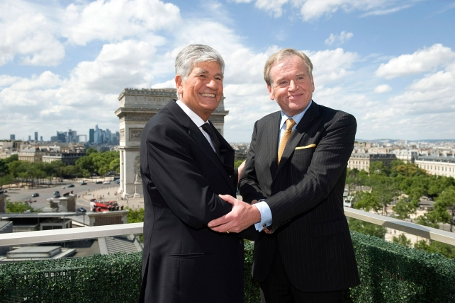 """Maurice Levy & John Wren announce their proposed merger. """"Title ="""" Maurice Levy & John Wren announce their proposed merger. """"Class ="""" x-large """"/>    <figcaption> Maurice Levy and John Wren announce their planned merger. Credit: Bloomberg<br /> </figcaption></figure> <h4 class="""