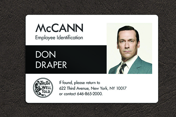 ID cards McCann created as part of its social media effort