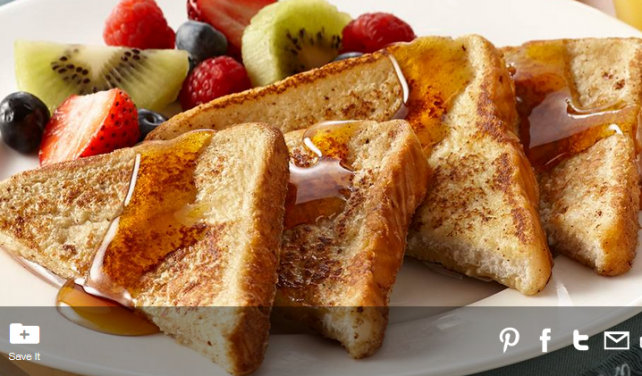 McCormick's easy French toast recipe.
