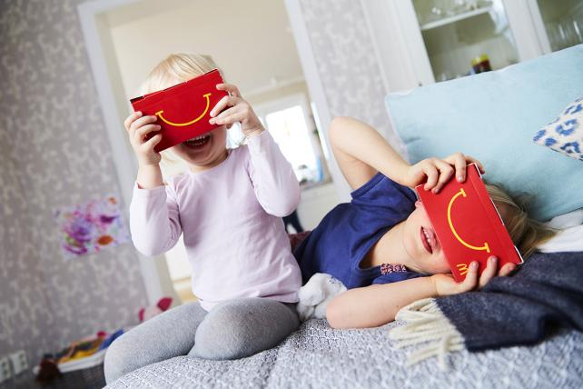 McDonald's Sweden gave away happy goggles in a promotion.