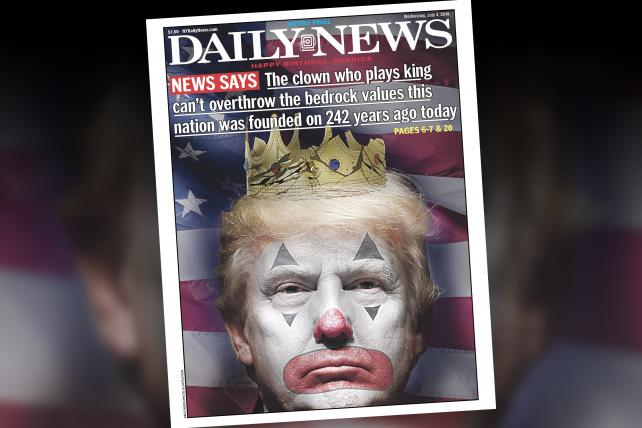 'The clown who plays king': The Daily News takes on Trump for the Fourth of July