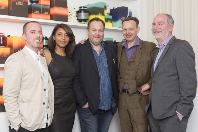 (L-R) Ming Chief Design Officer Brad Blondes, President Tara DeVeaux, CCO Linus Karlsson, Tom Dixon, Ming CEO Brian DiLorenzo