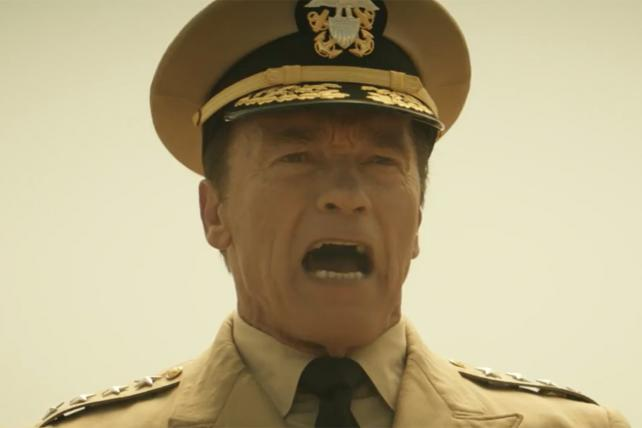 See Arnold Schwarzenegger as the 'Party Pooper' in Super Bowl Spot for 'Mobile Strike'