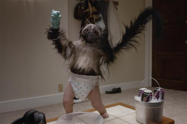 As Mtn Dew Returns to Super Bowl, Remember 'PuppyMonkeyBaby'