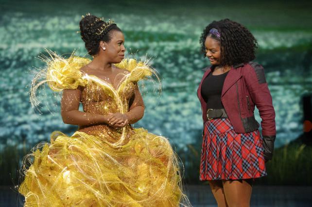 Uzo Aduba as Glinda and Shanice Williams as Dorothy in NBC's 'The Wiz Live!'