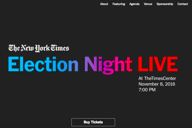 Tickets to The New York Times event go for $250.