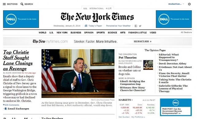 New York Times Debuts First Native Ad Units From Dell