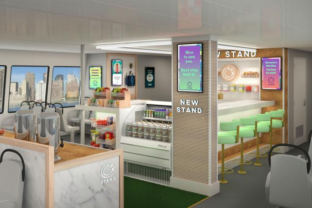 A rendering of the New Stand's ferry shop.