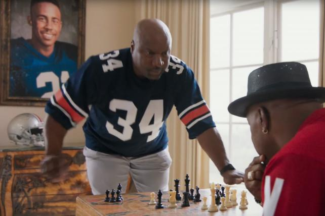 In Nissan's Heisman House, Bo knows chess and Baker Mayfield plants a (tiny) flag