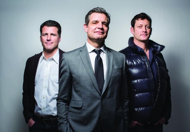 (From l.) Nick Paul, Tom O'Keefe, Matt Reinhard