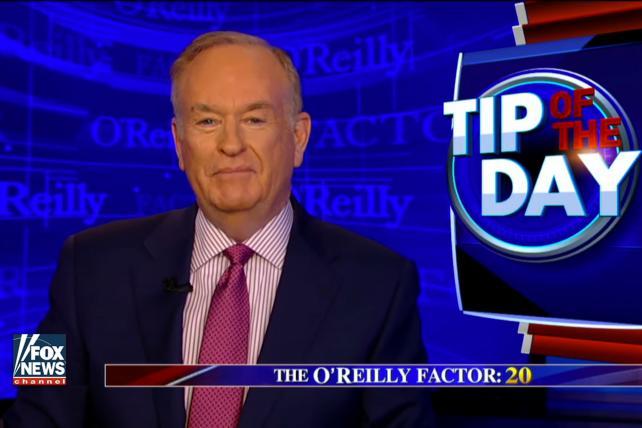 Fox Host O'Reilly Taking Vacation Amid Sex Harassment Furor