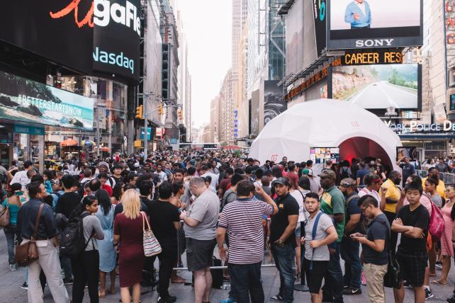 The OnePlus pop-up in Times Square