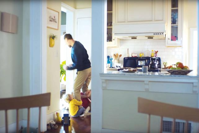 A dad loses himself in playtime with his kids in an ad for Citi.