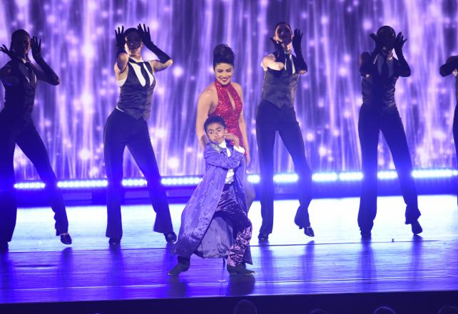 Priyanka Chopra from 'Quantico' and Miles Brown from 'Black-ish' perform at ABC's upfront presentation on Tuesday.