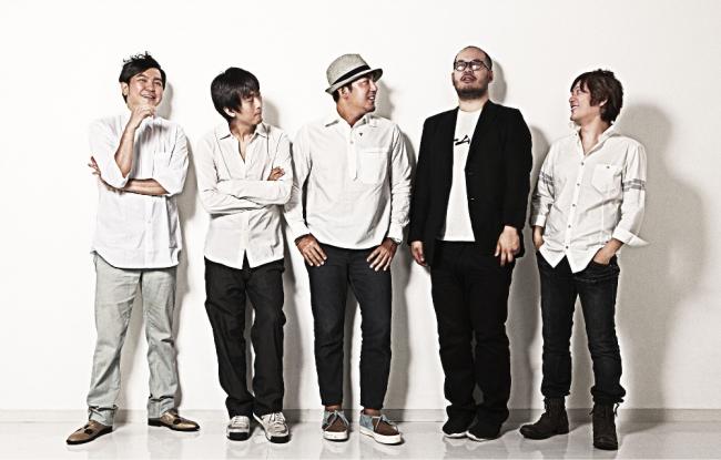 Party founders, from left: Morihiro Harano, Masashi Kawamura, Naoki Ito, Qanta Shimizu, Hiroki Nakamura