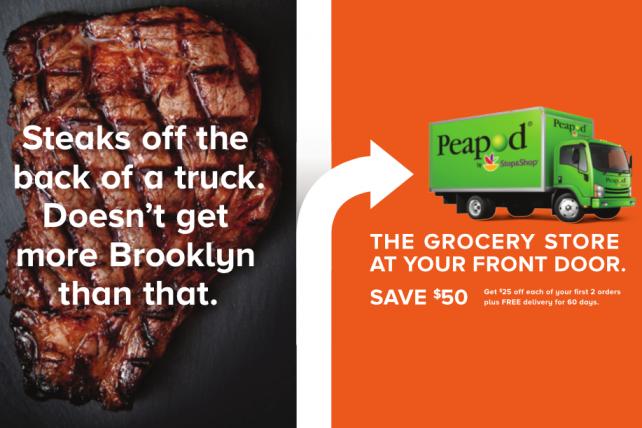 Peapod debuts New York campaign.