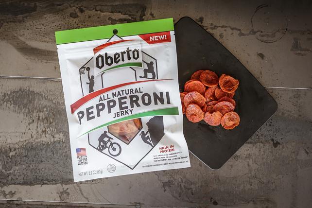 Oberto's pepperoni jerky.