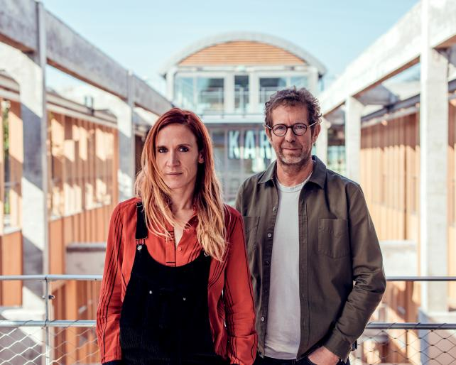 Clarisse Lacarrau (l.), managing director BETC L.A., and Rémi Babinet, president, founder and creative director of BETC.