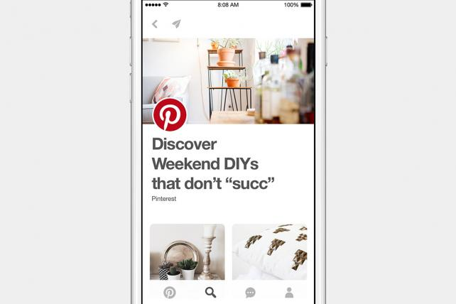 Pinterest Explore is focusing on video from top publishers.