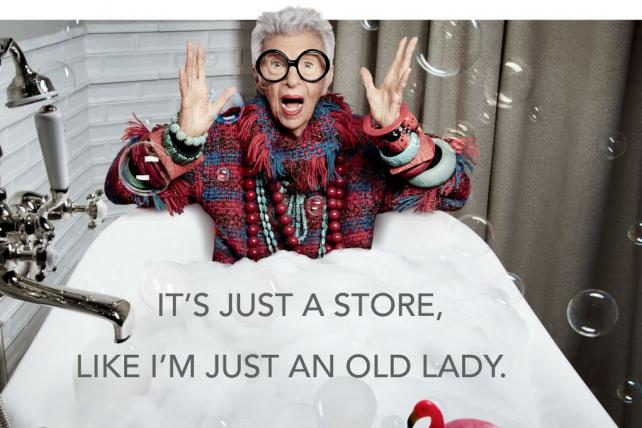 Pirch will feature fashion icon Iris Apfel in new ads.