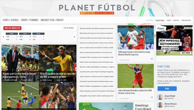Sports Illustrated's Planet Futbol site rolled out in time for the World Cup.