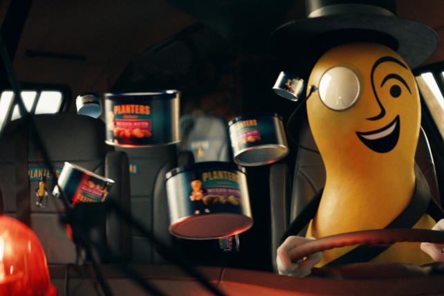 Mr. Peanut drives like a nut to save A-Rod from kale chips in Super Bowl spot