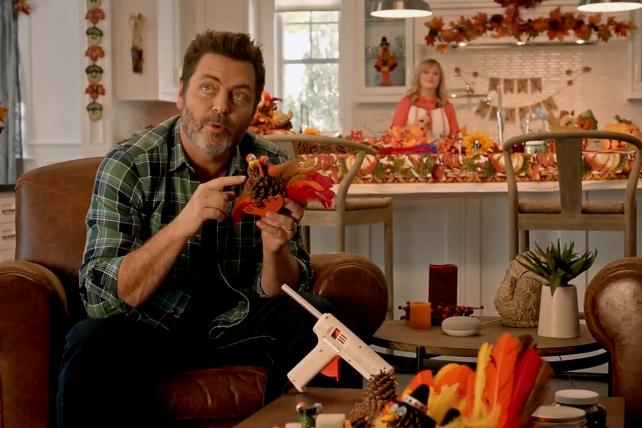 Watch Amy Poehler and Nick Offerman Do Friendsgiving with Google Home
