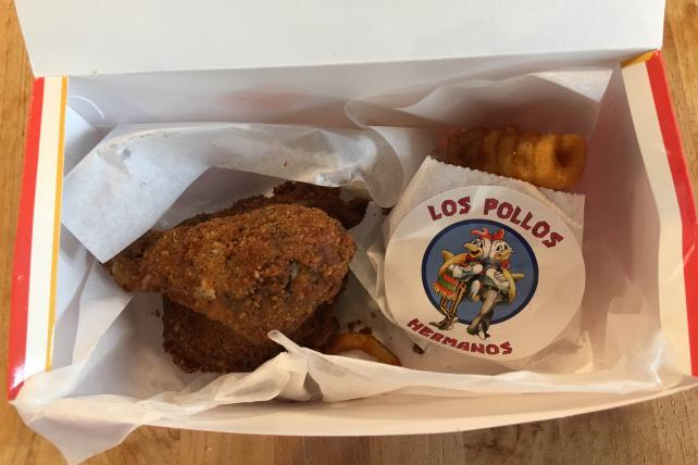 We tried 'Better Call Saul' chicken from Los Pollos Hermanos and it was just OK