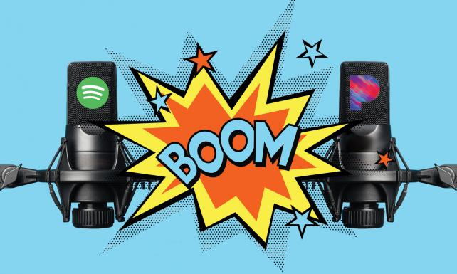 Spotify and Pandora duke it out for podcasting dominance