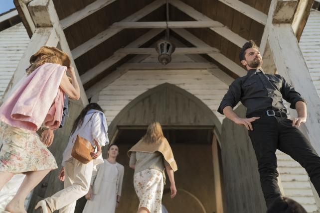 AMC's Preacher: Dominic Cooper as Jesse Custer.