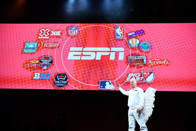 ESPN anchor Kenny Mayne during the 2017 ESPN upfronts pitch.