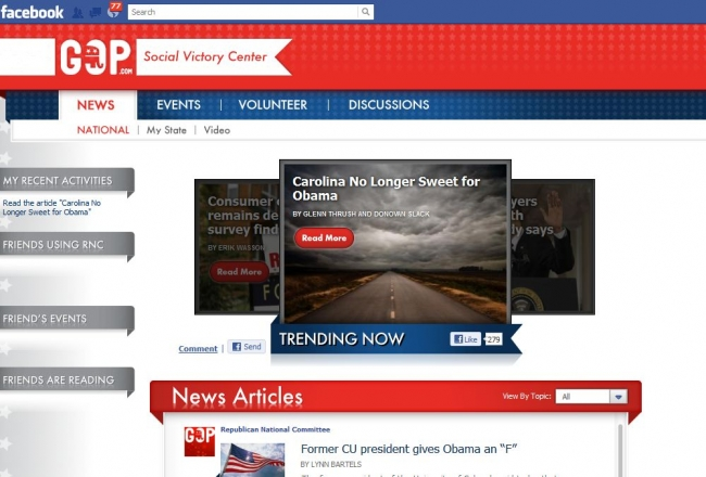 GOP Launches 'Social Victory Center' on Facebook