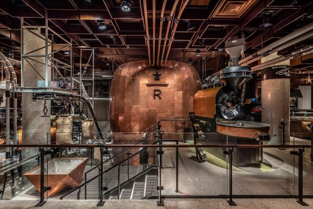 Starbucks opens first East Coast Reserve Roastery