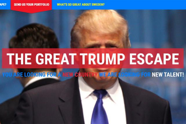 Hundreds of U.S. Creatives Seek 'The Great Trump Escape' in Sweden