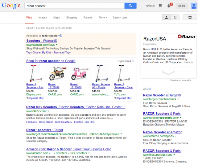 Search results for 'razor scooter'