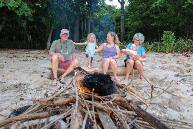 Mike Dobbs' family in Costa Rica.
