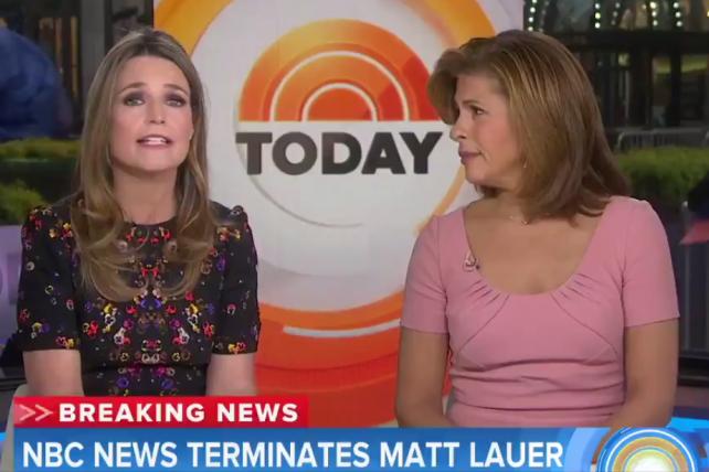 'We Are Devastated': Watch Savannah Guthrie and Hoda Kotb React to Matt Lauer's Firing