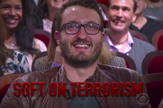 Watch: Colbert's Attack Ad Against an Audience Member
