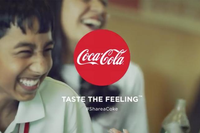 Coca-Cola's '#ShareACoke' TV ad.