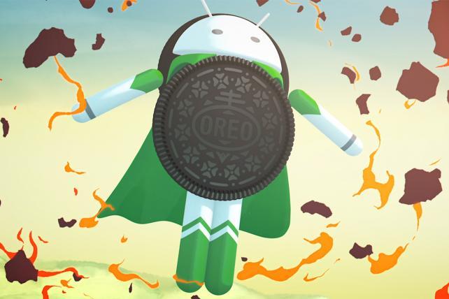 The Android Oreo superhero.