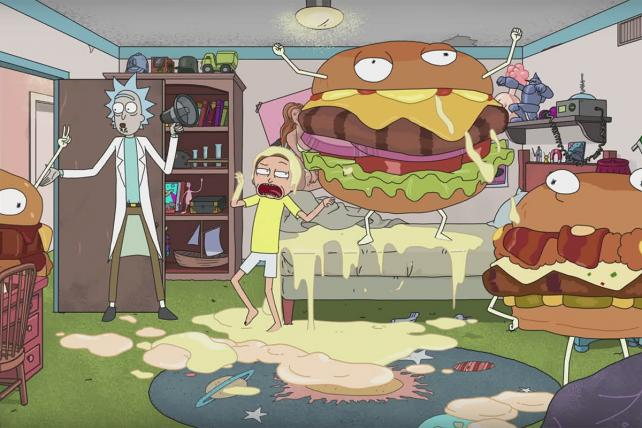 The creators of 'Rick and Morty' have also been happy to work their characters into branded content for marketers such as Carl's Jr./Hardee's.