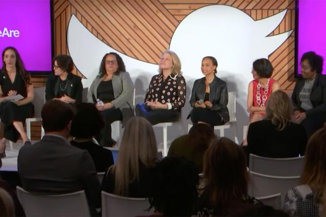 Twitter's #HereWeAre event during CES, a response to the convention's lack of solo female keynote speakers.
