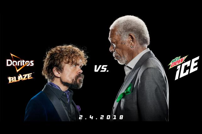 Doritos and Mtn Dew Get Linked Super Bowl Ads Starring Peter Dinklage and Morgan Freeman