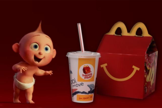 Disney's return to promotions with McDonald's Happy Meals will kick off with 'Incredibles 2.'