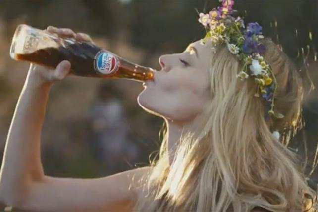Scene from new Diet Pepsi TV Commercial, 'The Right One'