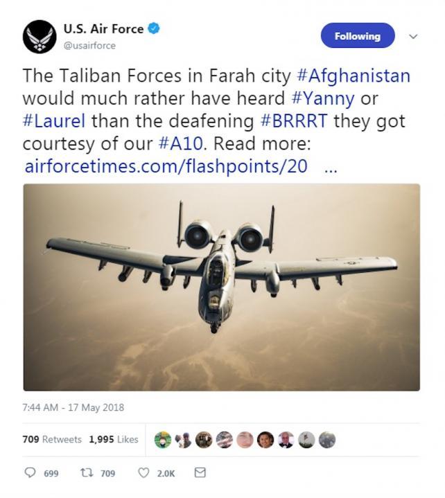 U.S. Air Force tweet