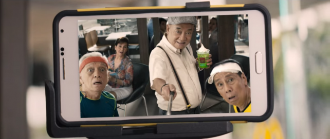 Selfies in a McDonald's ad in the Philippines