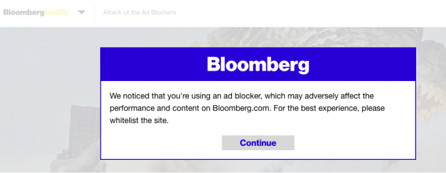 Message to Ad-Blockers