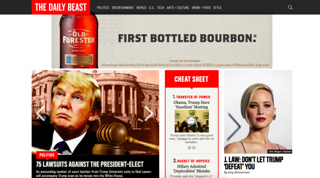 The Daily Beast's website.